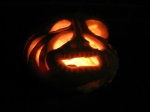 "Bob's own pumpkin- his explanation: ""I let the pumpkin speak to me"" hmmm....I see.... ;-)"