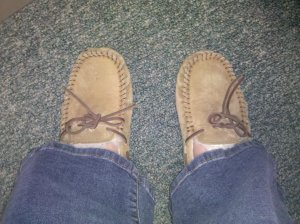 UGG mocs!  The two Cs! Comfy and Cute!