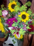 My dad sent me beautiful flowers!