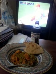 Cookinig and eating some yummy meals (many in front of the TV watching the bi-polar Phillies) this one was an Indian Feast