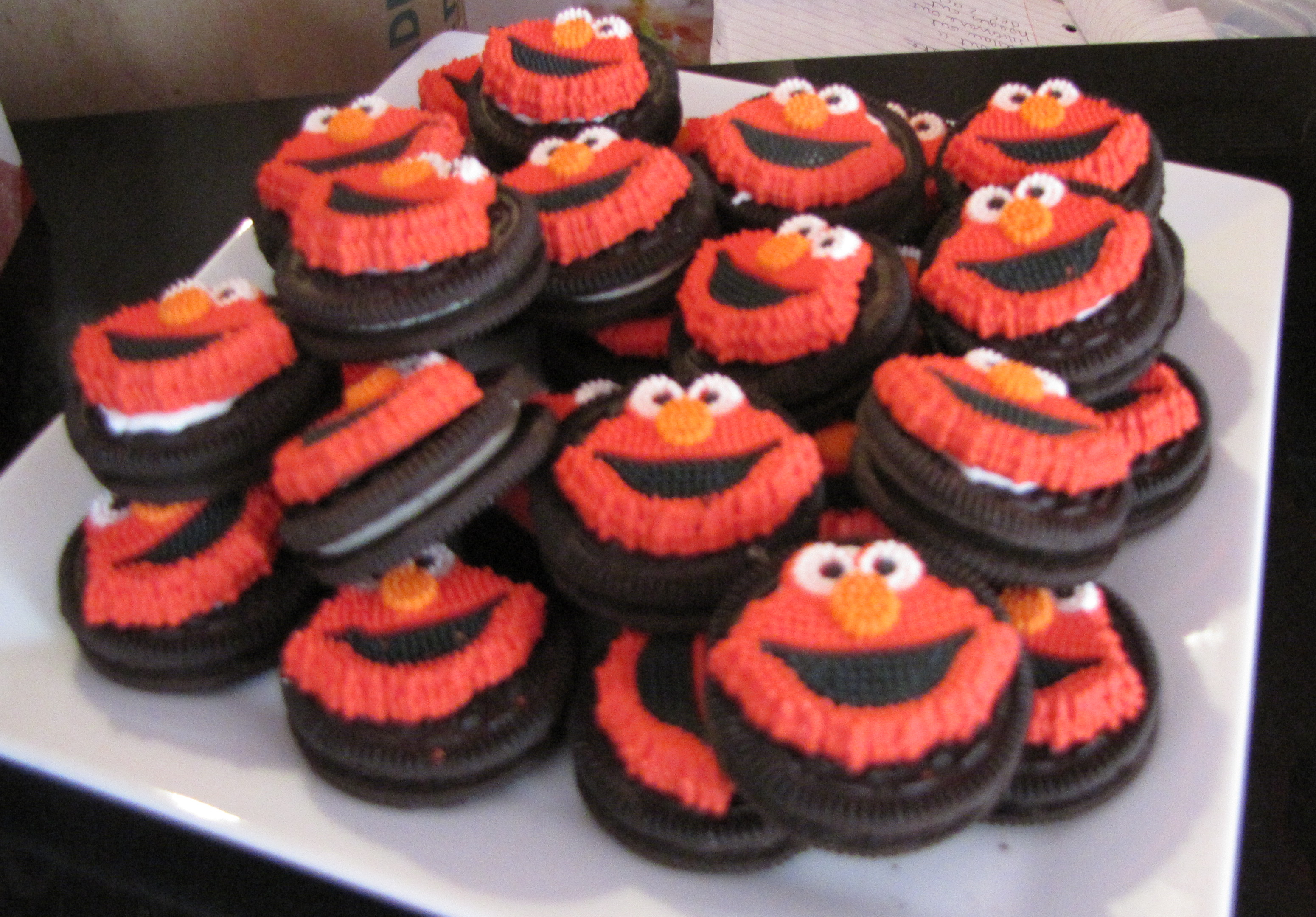 Elmo Themed First Birthday Party DIYStyle Ups and Downes