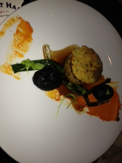 MEATLOAF . CHARCOAL POTATOES . SCALLION . ROMESCO best meatloaf I have EVER had.  EVER