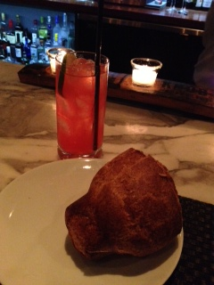 UNREAL popover; one of my favorite aspects of the restaurant, with drink numero uno: I don't know the name but it was stiff and good.