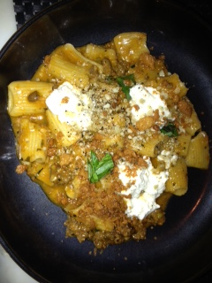 RIGATONI . LAMB SUGO . RICOTTA . JALAPENO this was INSANE