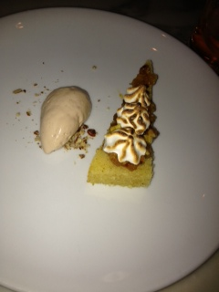 Lady Baltimore (?) Cake with pecan ice cream