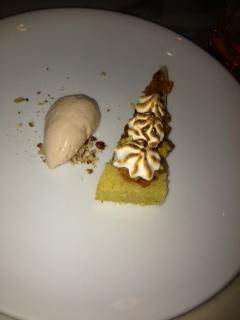 Lady Baltimore (?) Cake with pecan ice cream