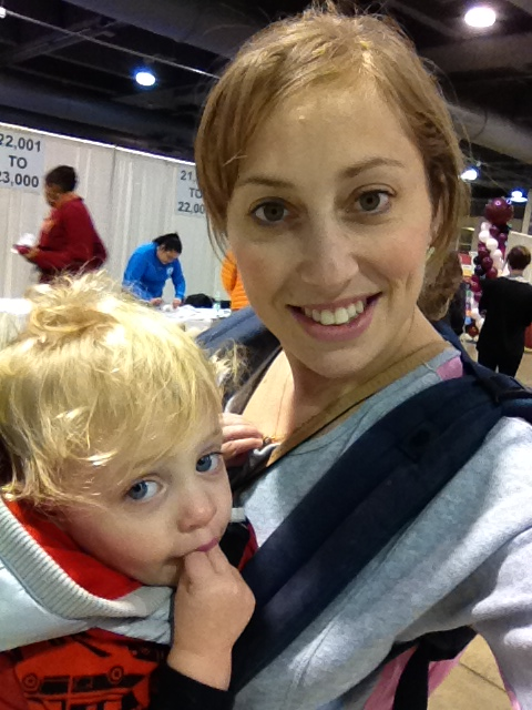 Z and I at the most recent Phila marathon expo